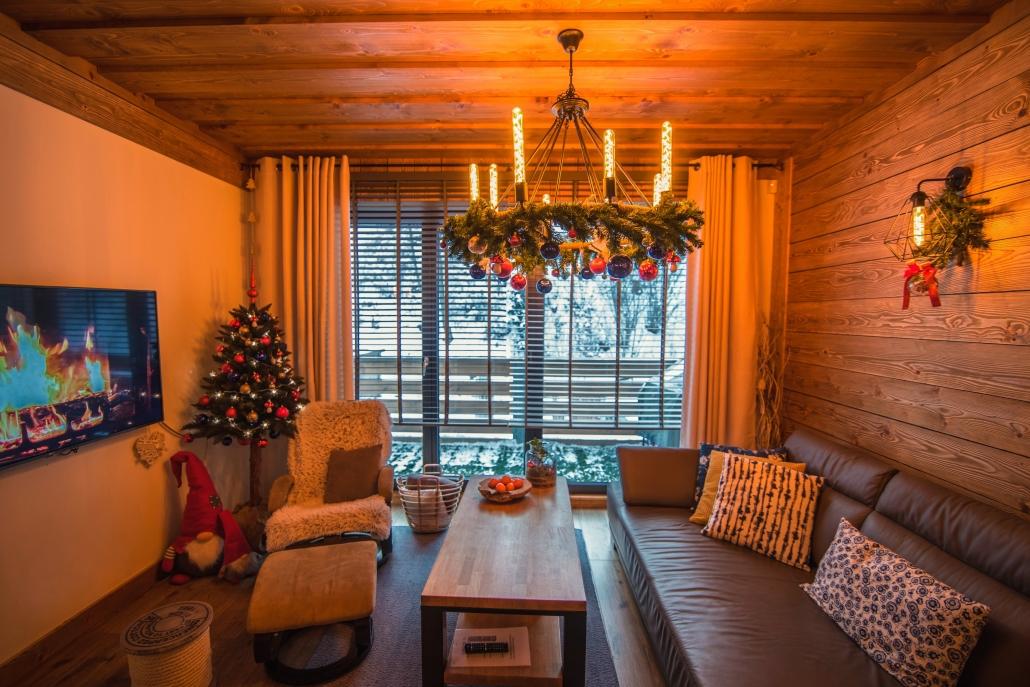 Chata Pri Potoku - obývačka
